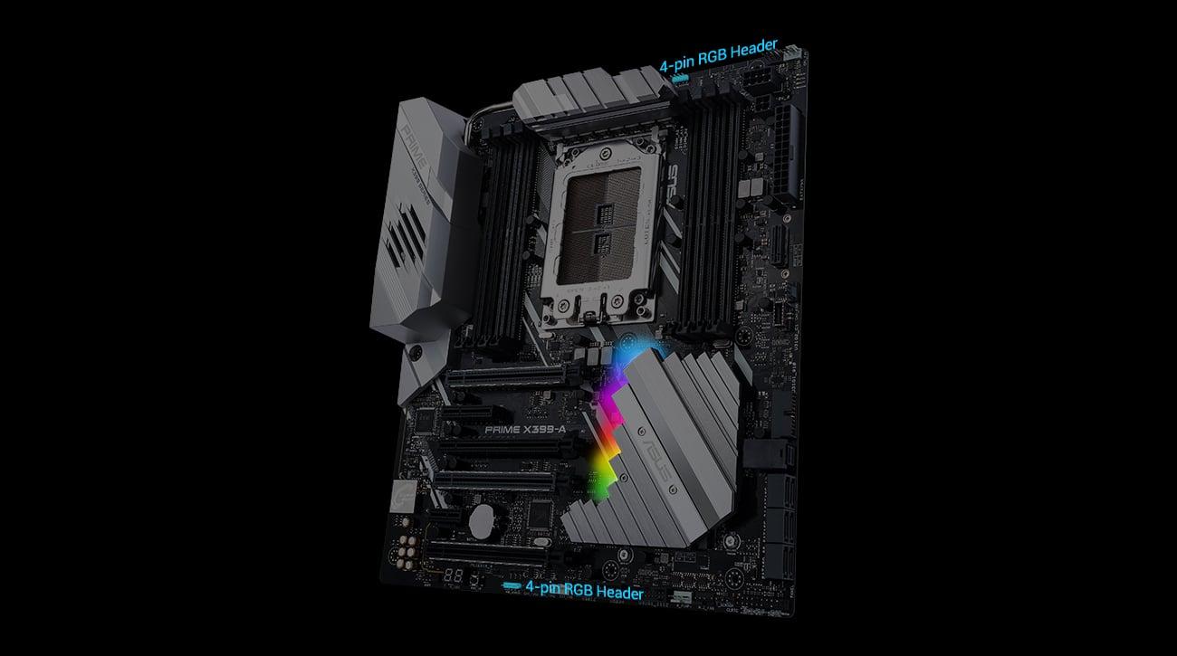 ASUS PRIME X399-A Podświetlenie RGB Aura Sync