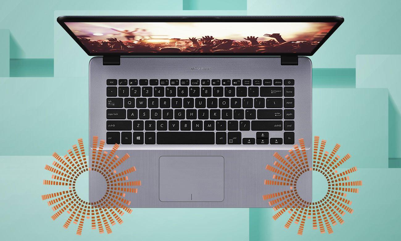 ASUS VivoBook 15 R520UF Ekspansywny dźwięk, dostrojony przez ekspertów