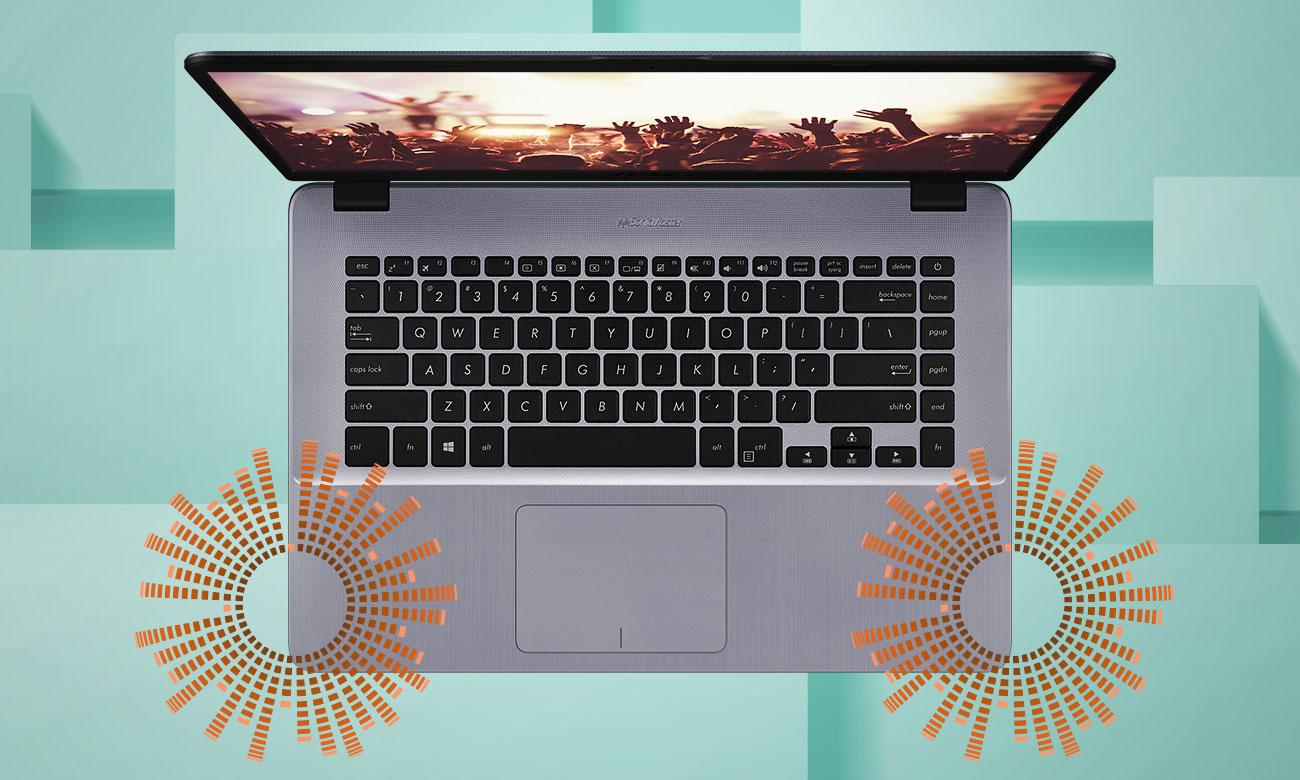 ASUS VivoBook 15 R520UA Ekspansywny dźwięk, dostrojony przez ekspertów