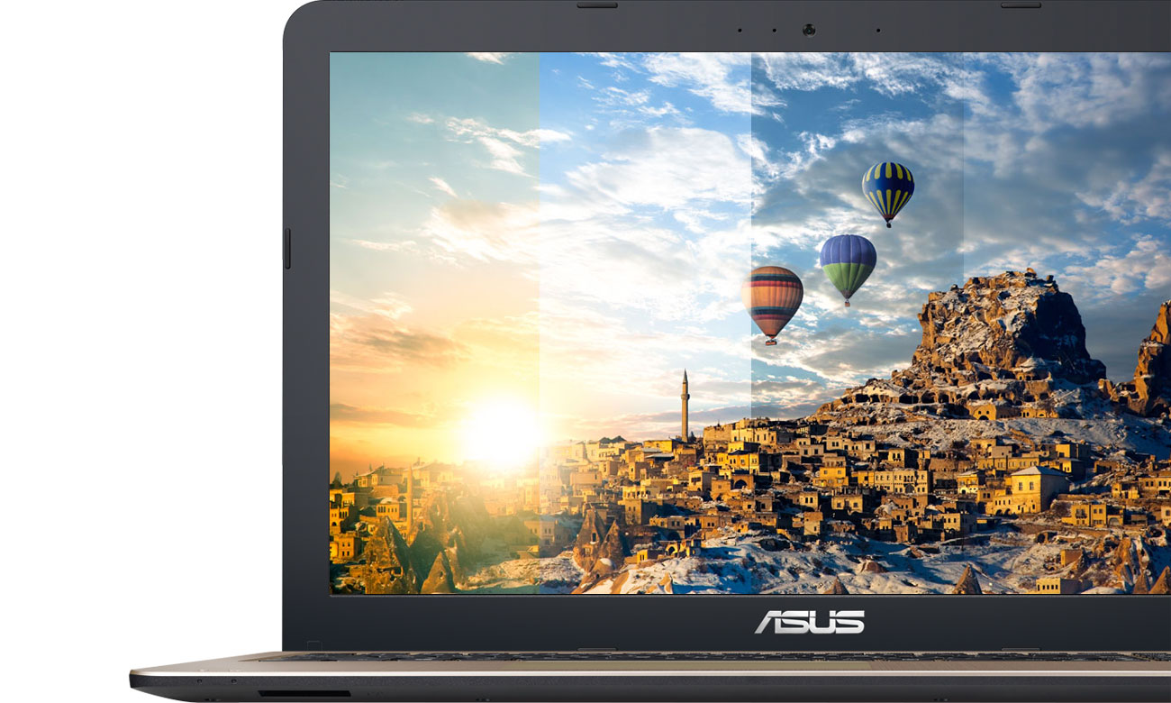 ASUS VivoBook R540UA ASUS Splendid Realistyczne, wciągające kolory