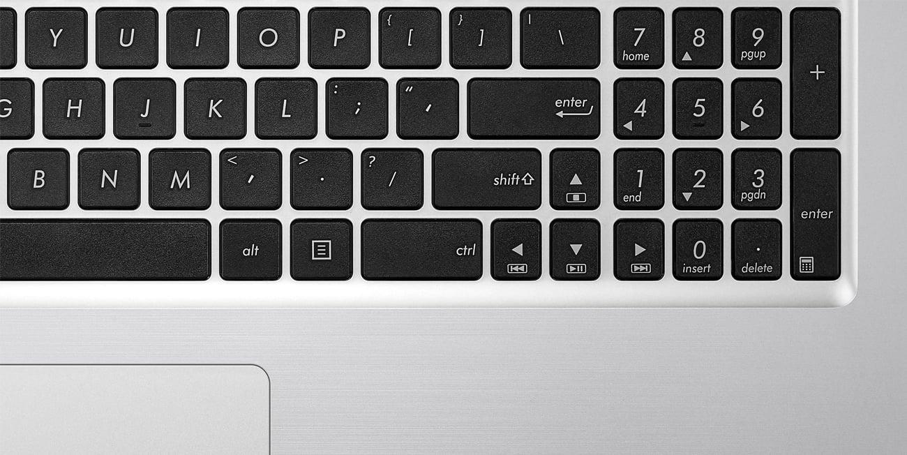 ASUS R558UQ ergonomiczna klawiatura