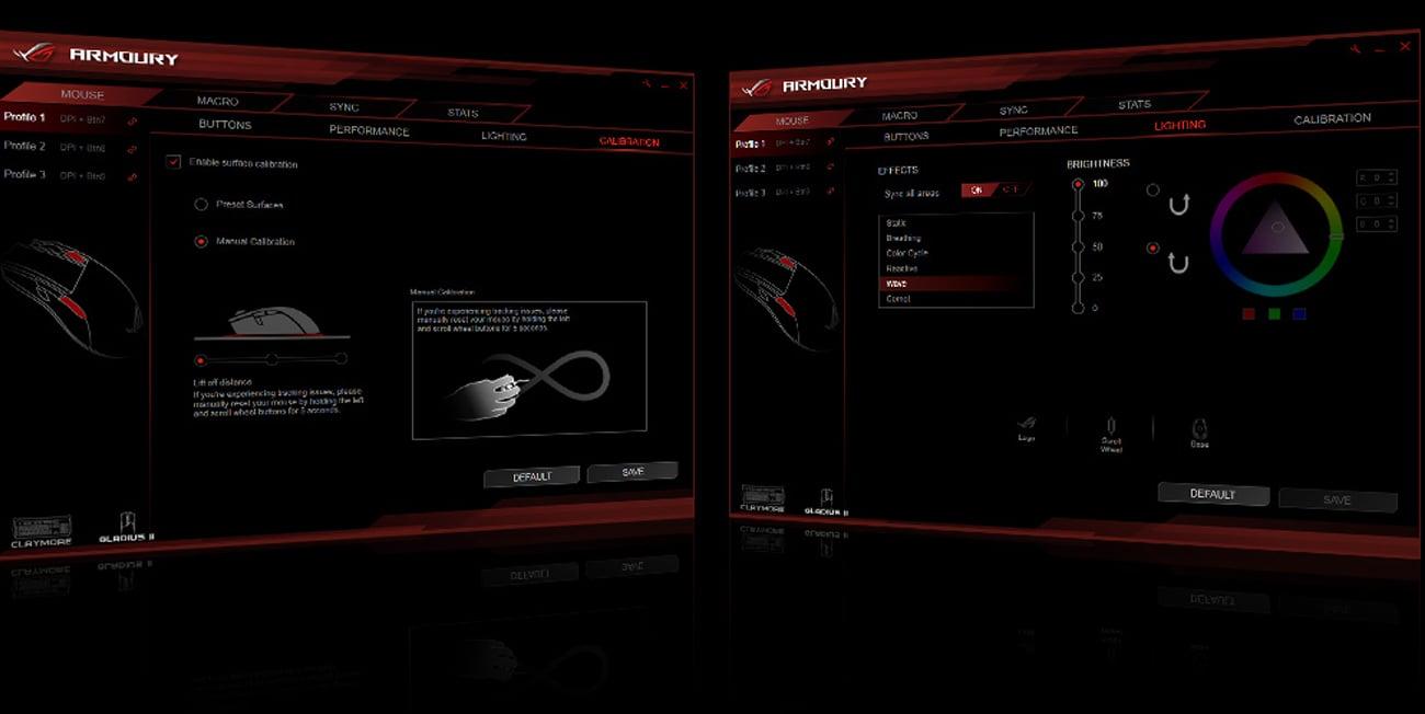 ASUS ROG Gladius II Aplikacja ROG Armoury