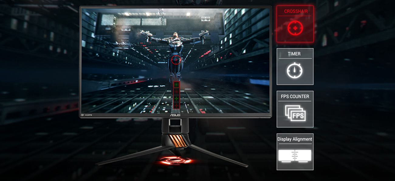 ASUS ROG PG258Q Technologia GamePlus
