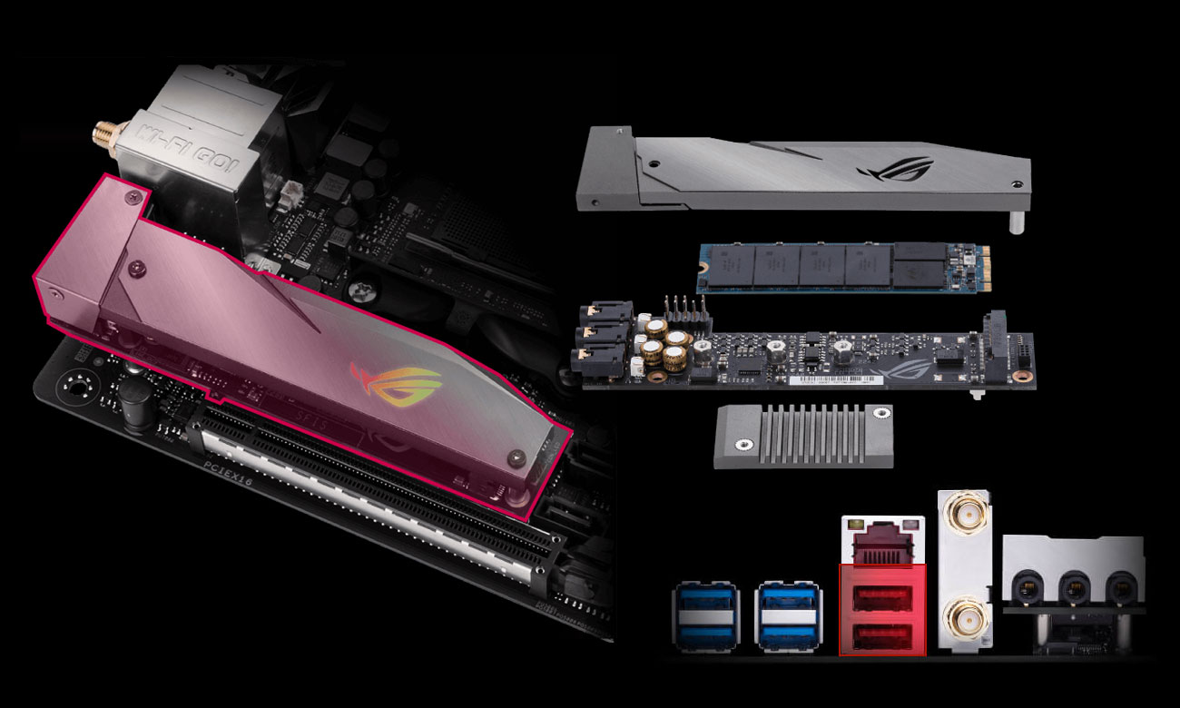 ASUS ROG STRIX B350-I GAMING Złącze M.2 NVMe USB 3.1 Gen2