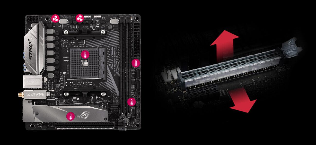 ASUS ROG STRIX B350-I GAMING Wytrzymałość Fan Xpert 4