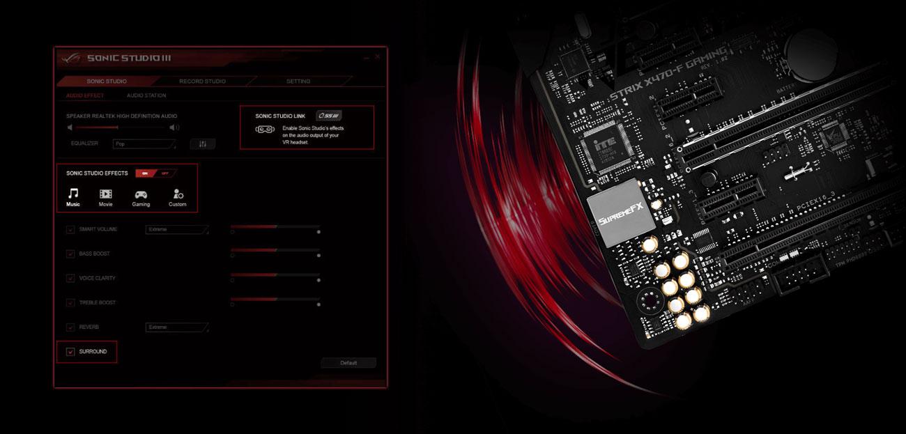 ASUS ROG STRIX X470-F GAMING Audio SupremeFX