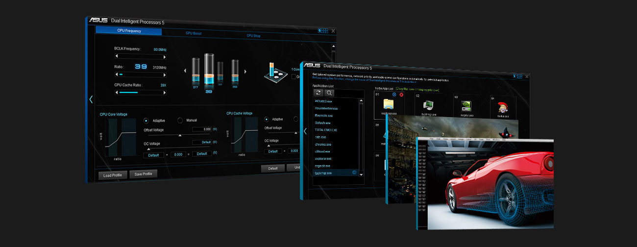 ASUS ROG STRIX X470-F GAMING Podkręcanie Turbo App