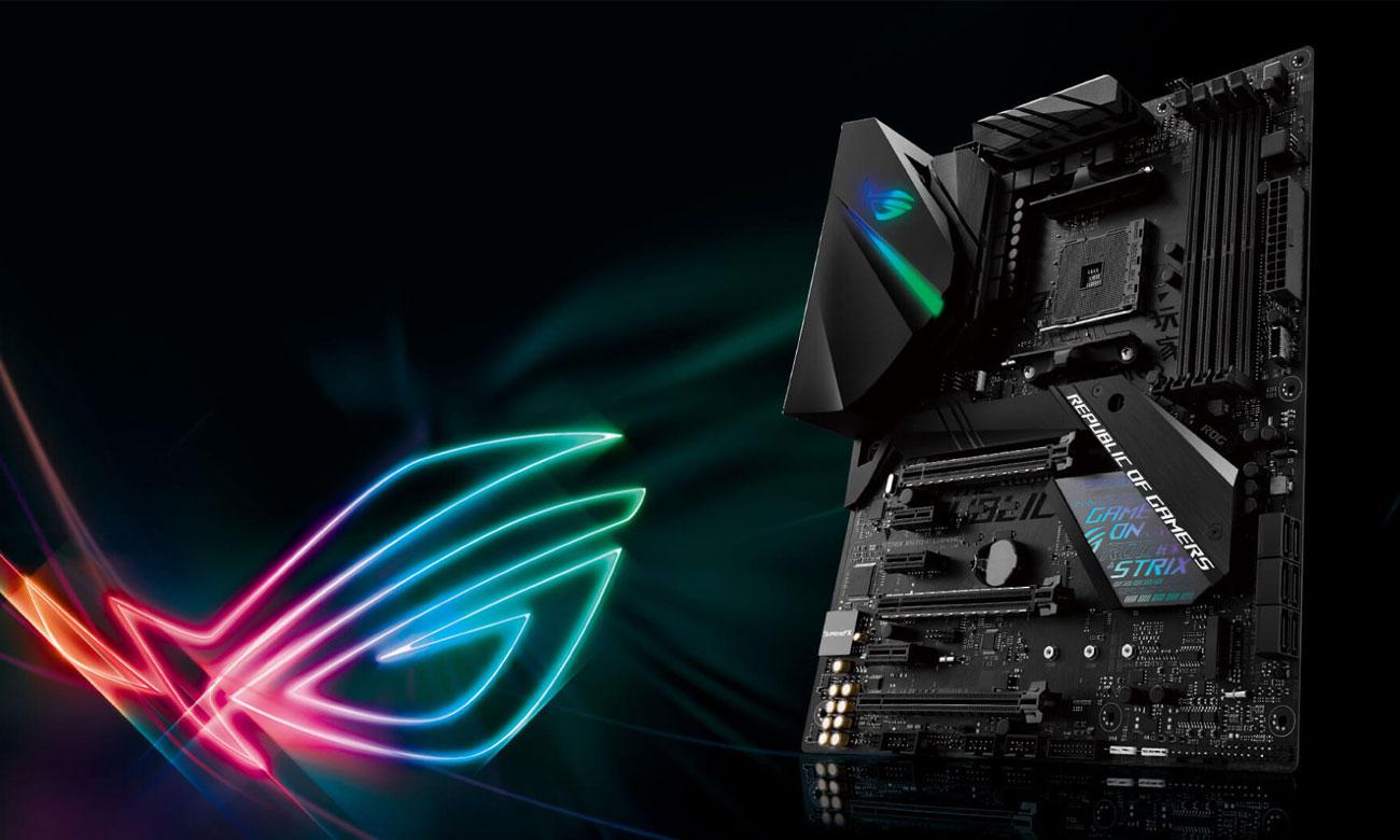 ASUS ROG STRIX X470-F GAMING Podświetlenie Aura Sync
