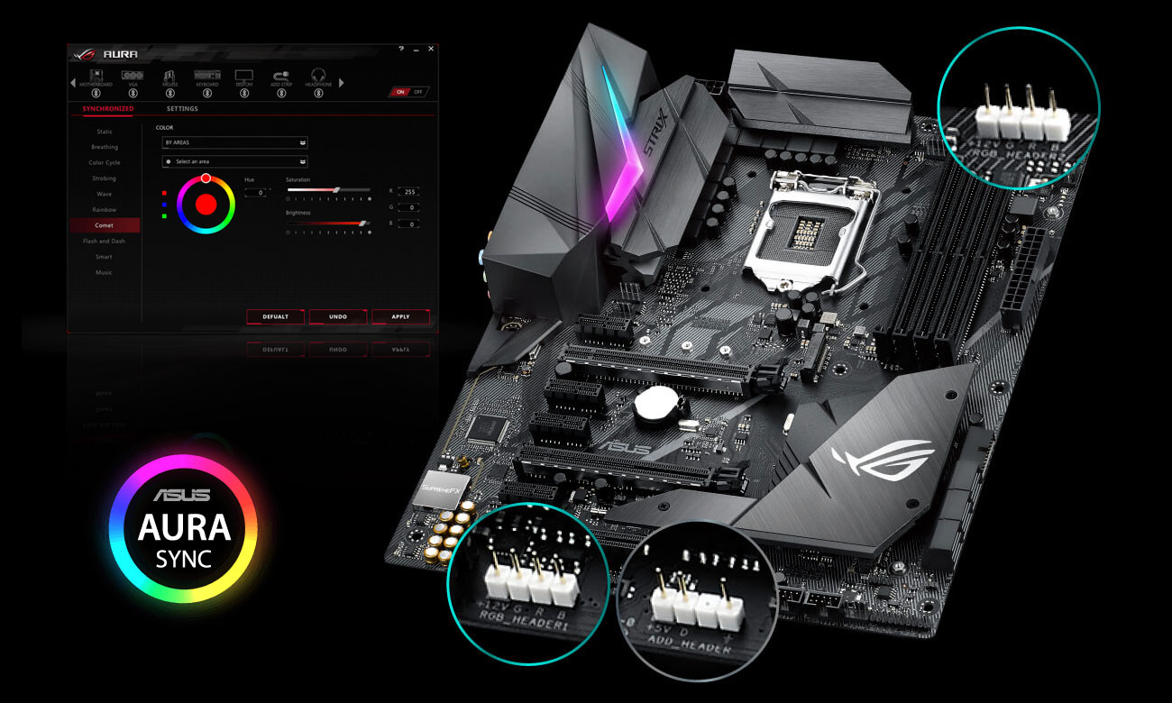 ASUS ROG STRIX Z370-F GAMING Aura RGB LED