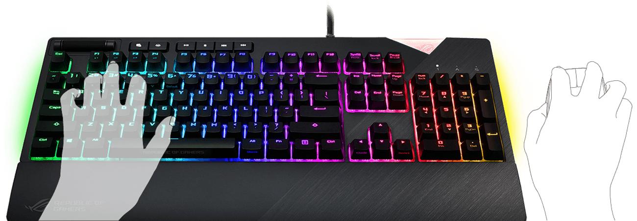 ASUS ROG Strix Flare RGB Przyciski Sterowania Mediami
