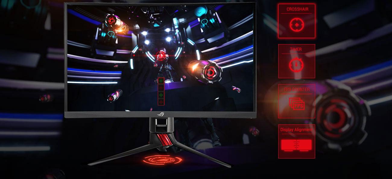 ASUS ROG Strix XG27VQ Technologia GamePlus