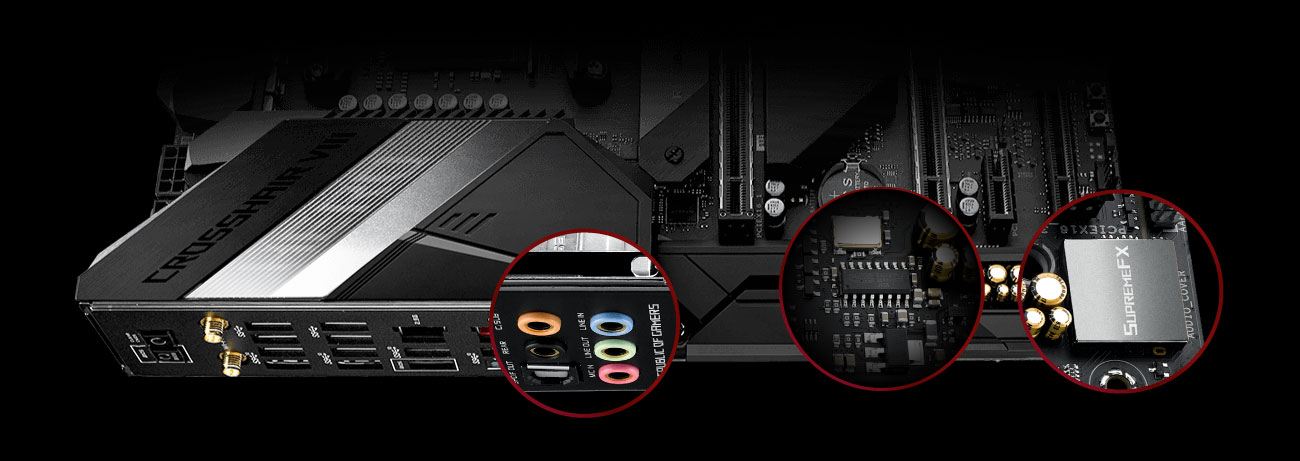 ASUS ROG Crosshair VIII Hero - Układ audio SupremeFX