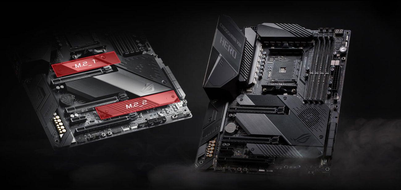 ASUS ROG Crosshair VIII Hero - Złącza PCI-E 4.0 M.2