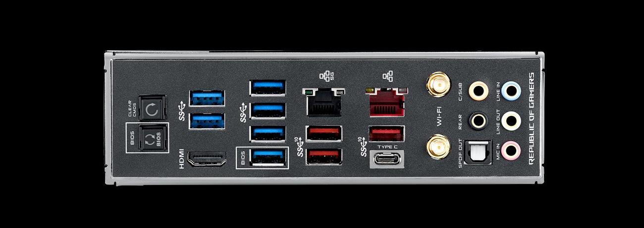 ASUS ROG MAXIMUS XI FORMULA Złącza USB