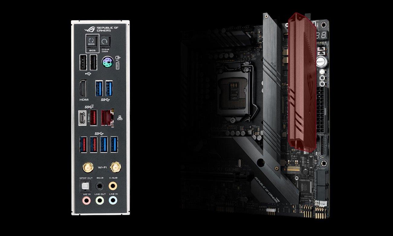 ASUS ROG MAXIMUS XI GENE Złącza M.2 i USB
