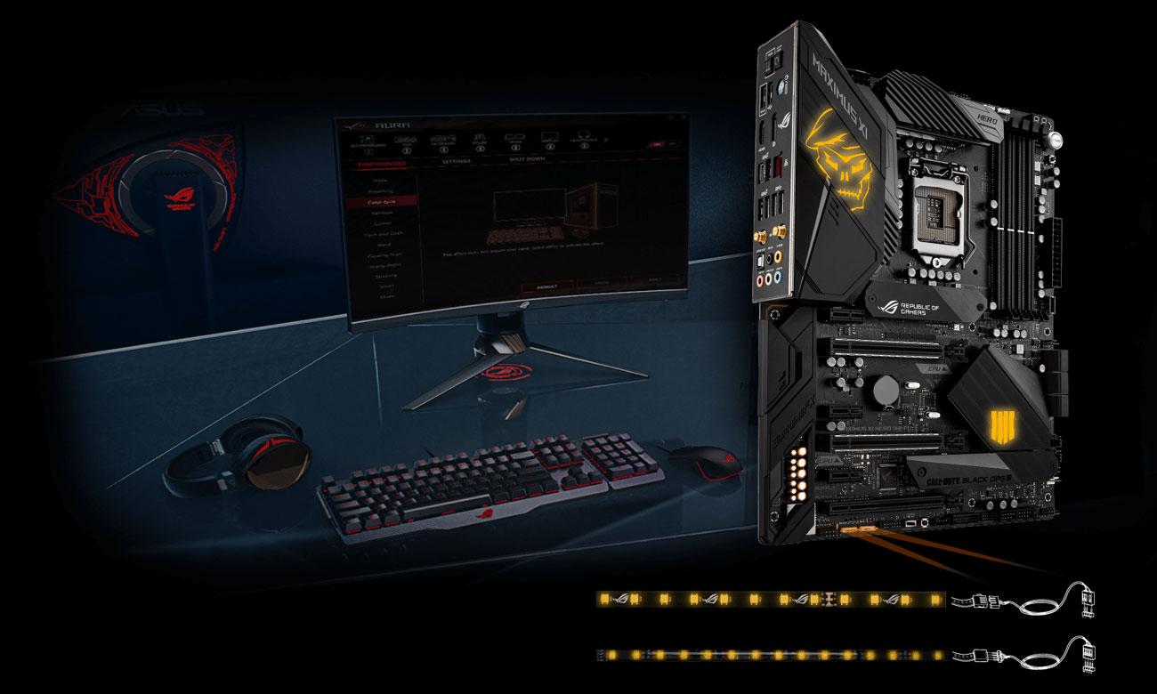 ASUS ROG MAXIMUS XI HERO (WI-FI CE) Black Ops 4 Edition Podświetlenie RGB