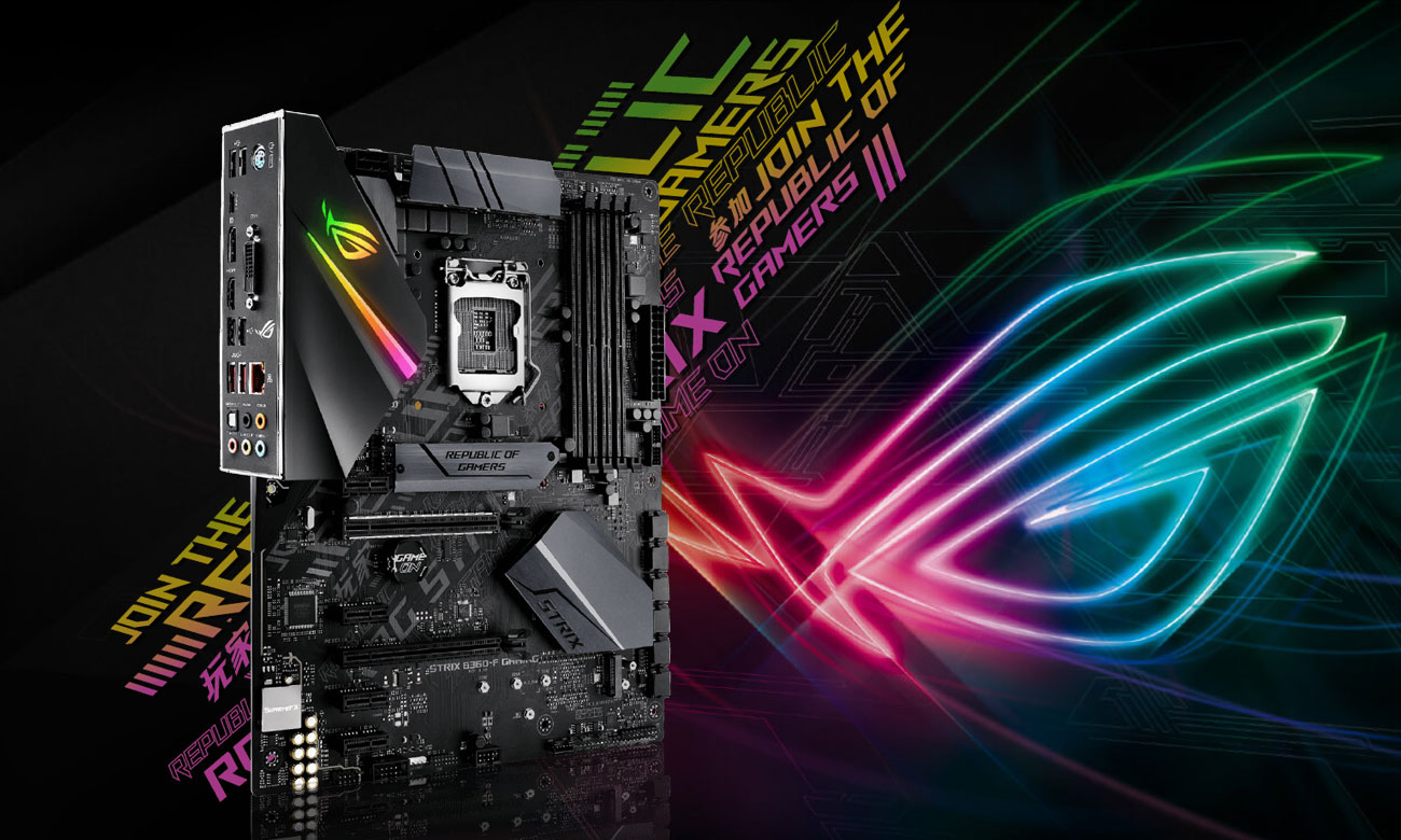 ASUS ROG STRIX B360-F GAMING Wydajna i stylowa płyta gamingowa