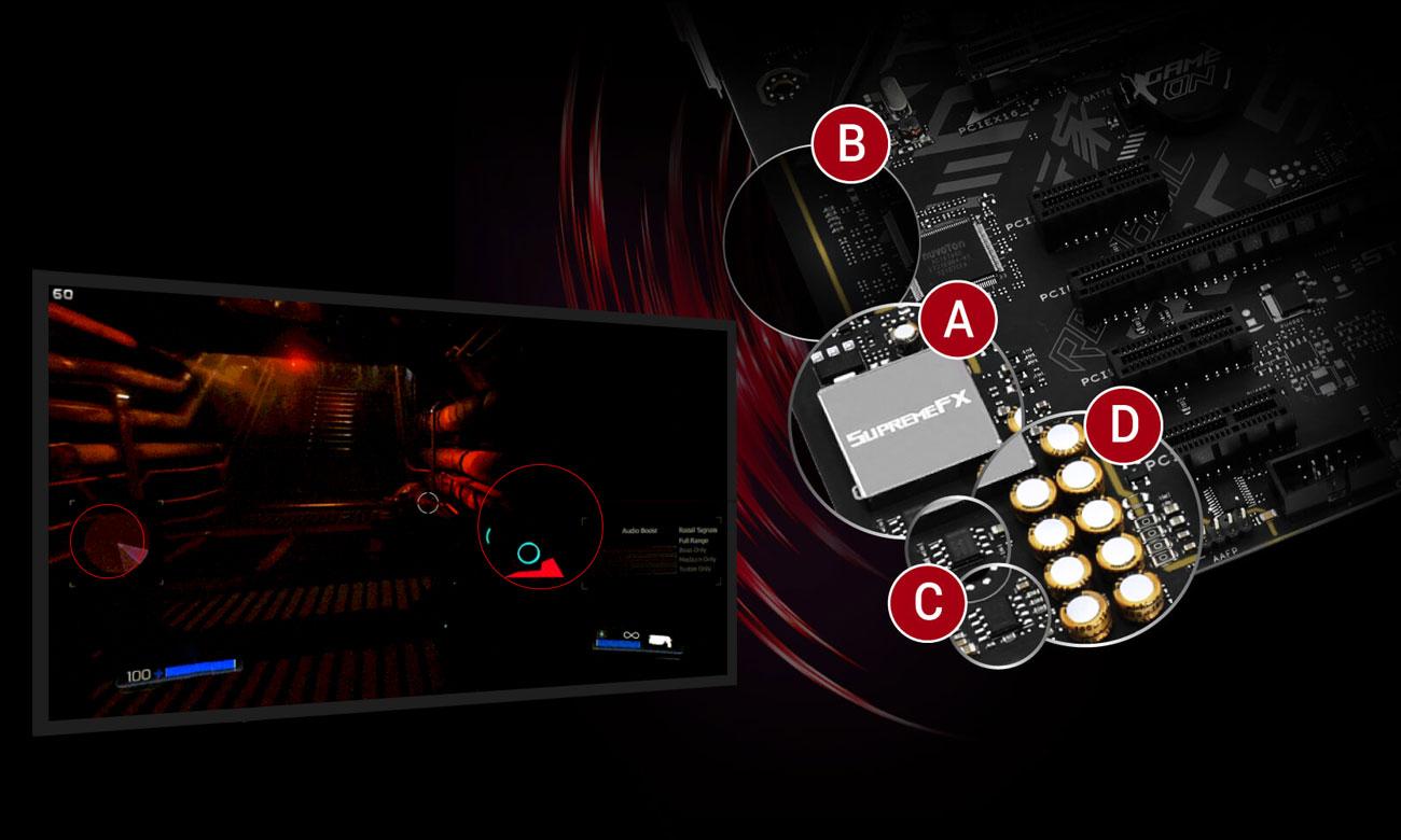 ASUS ROG STRIX B360-F GAMING Doskonały dźwięk z SupremeFX