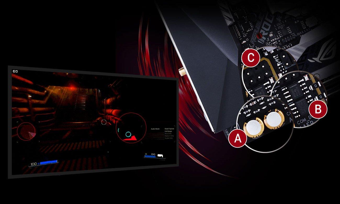 ASUS ROG STRIX B360-I GAMING Doskonały dźwięk z SupremeFX