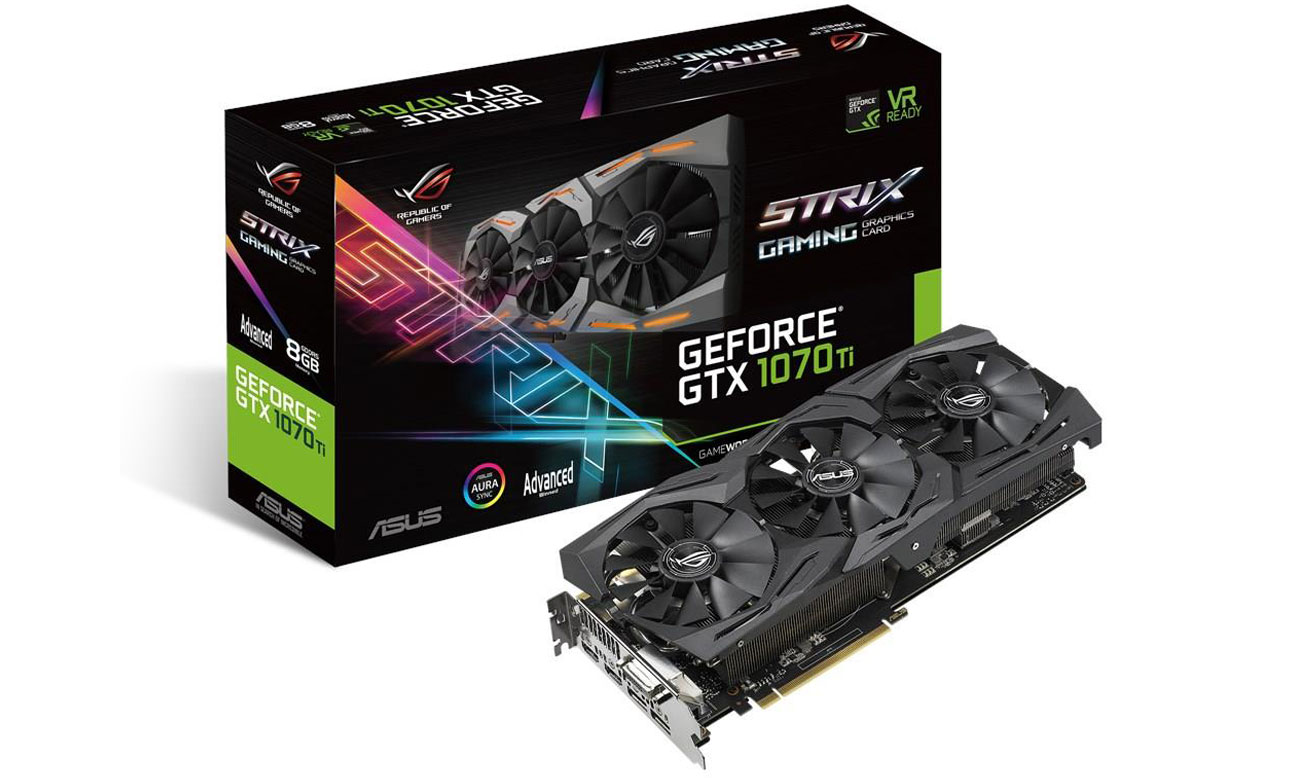 Karta graficzna ASUS GeForce GTX 1070 Ti Strix Gaming 8 GB
