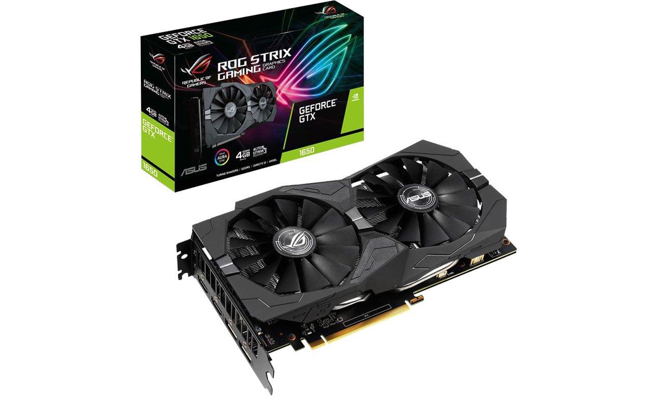 Karta graficzna NVIDIA ASUS GeForce GTX 1650 ROG Strix Gaming 4GB GDDR5 ROG-STRIX-GTX1650-4G-GAMING