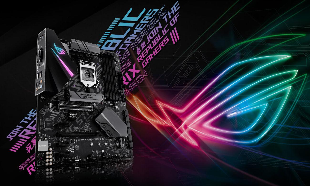 ASUS ROG STRIX H370-F GAMING Wydajna i stylowa płyta gamingowa