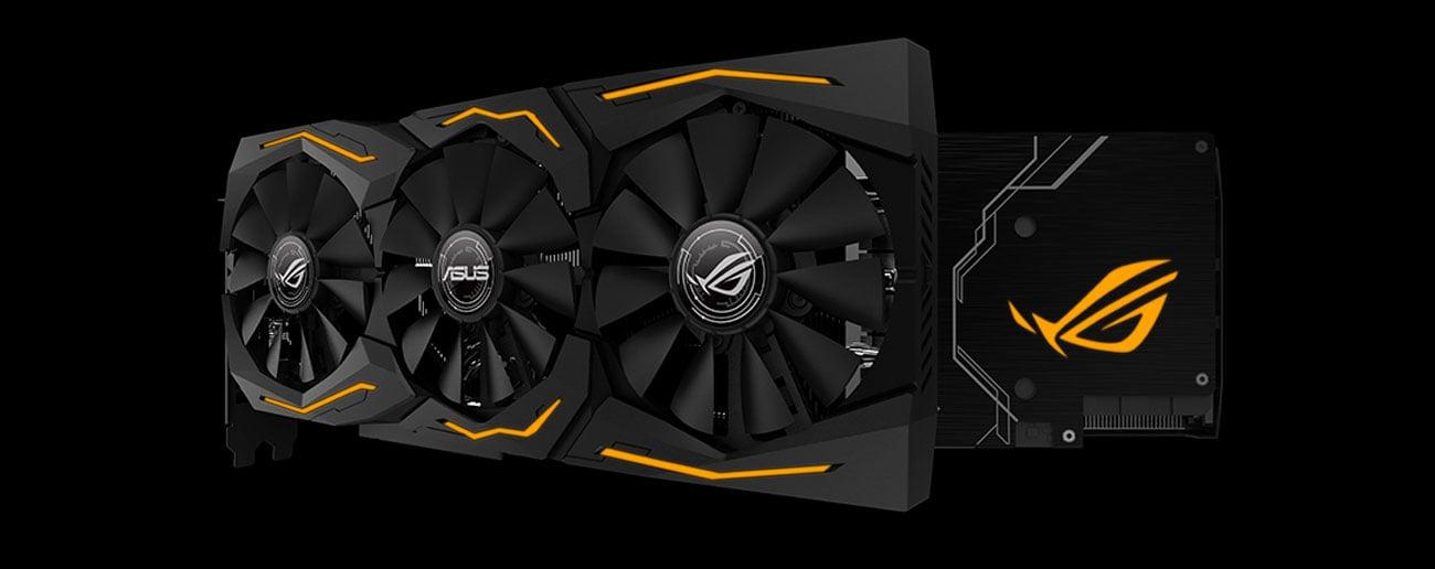 ASUS GeForce RTX 2070 Advance Wentylatory, podświetlenie