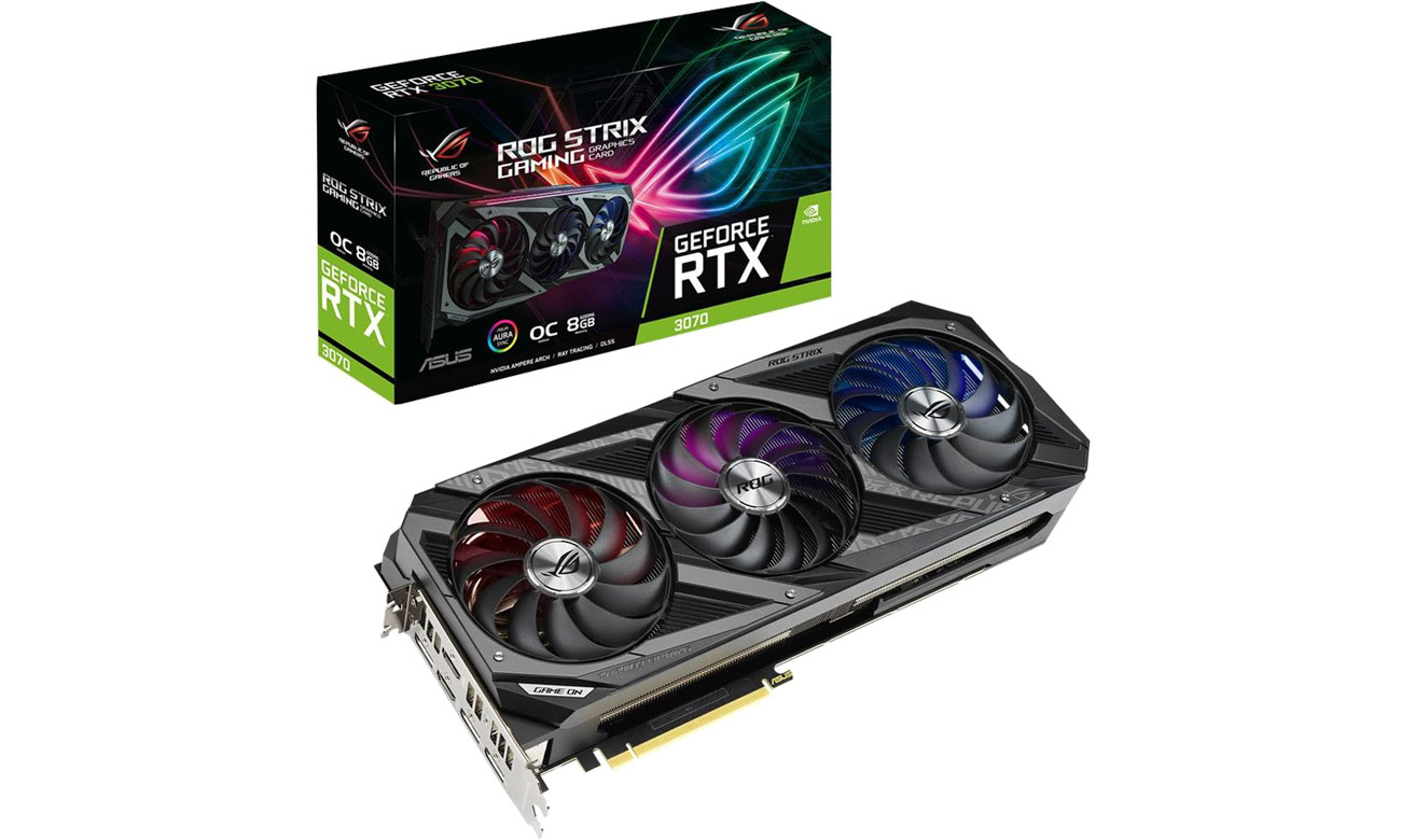 Karta graficzna NVIDIA ASUS GeForce RTX 3070 ROG STRIX OC 8GB GDDR6 ROG-STRIX-RTX3070-O8G-GAMING