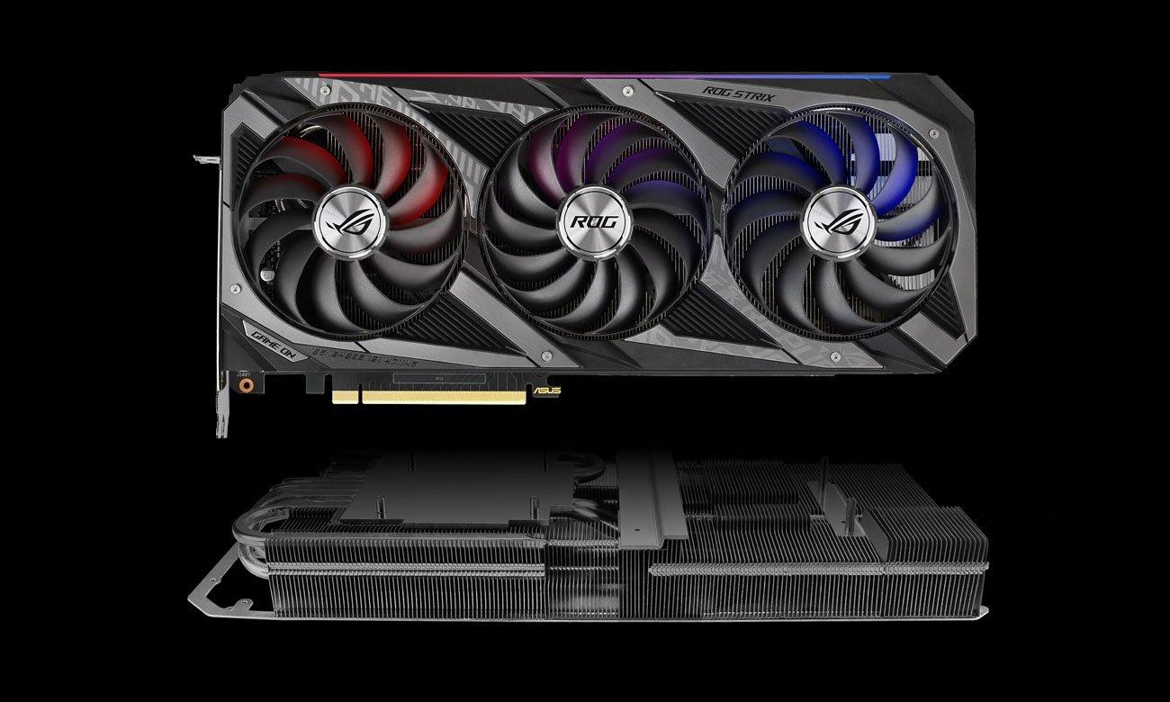 ASUS GeForce RTX 3070 ROG STRIX OC - Chłodzenie