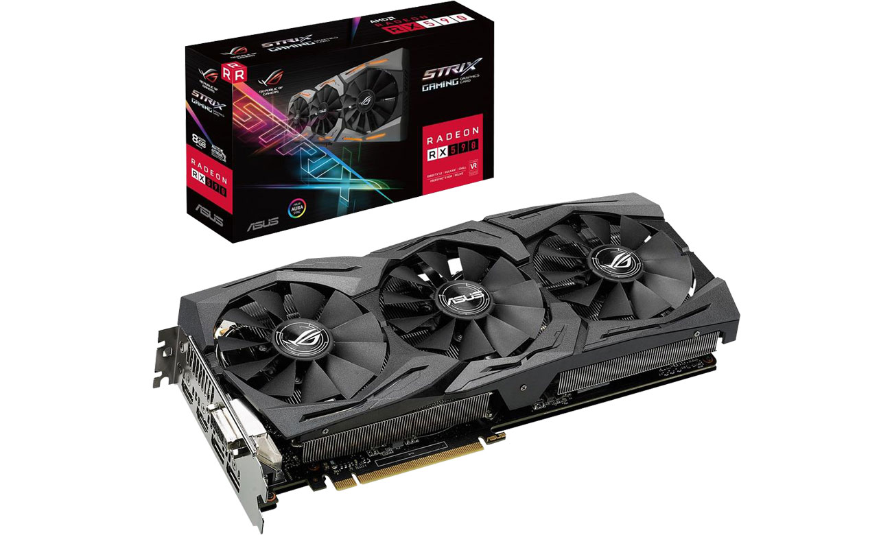 Karta graficzna AMD ASUS Radeon RX 590 STRIX 8GB GDDR5 ROG-STRIX-RX590-8G-GAMING