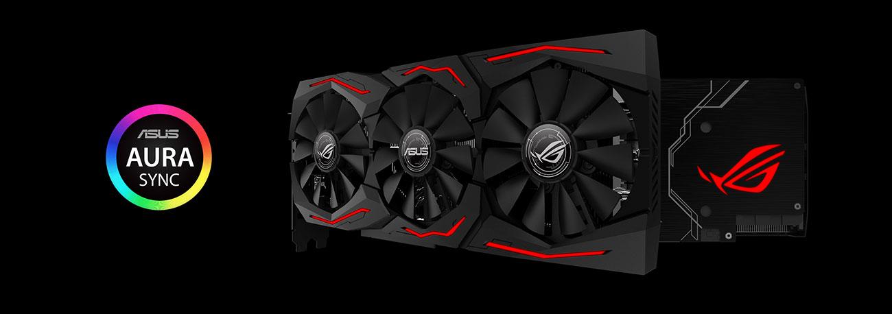 ROG Strix RX 590 Gaming Podświetlenie RGB