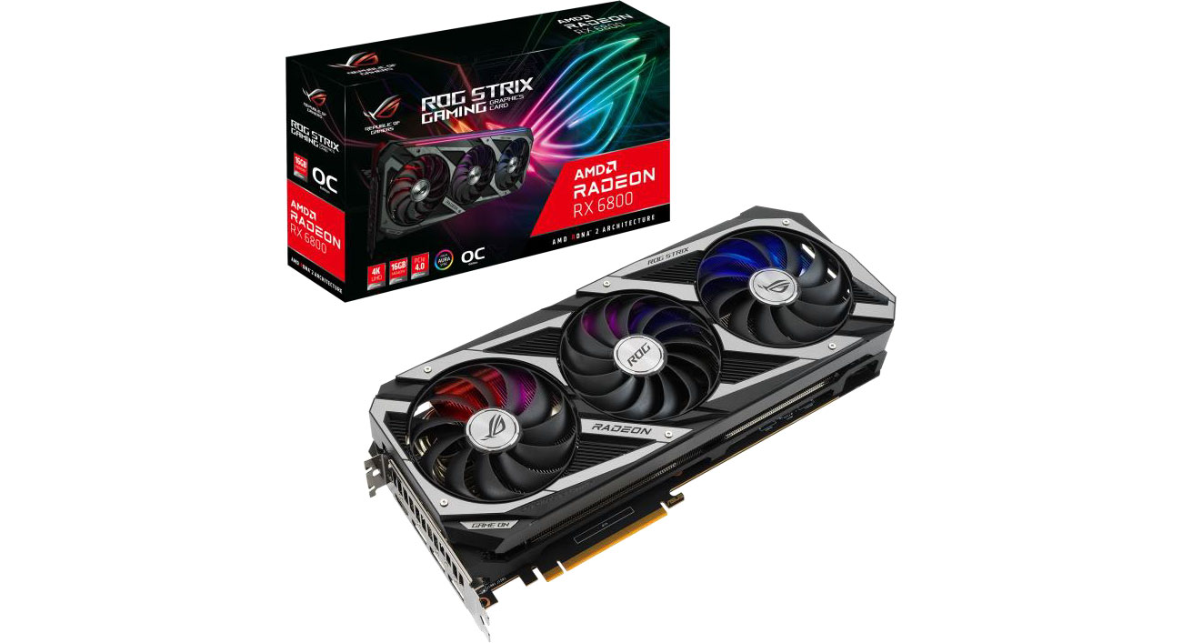 Karta graficzna AMD ASUS Radeon RX 6800 ROG Strix OC 16GB GDDR6 ROG-STRIX-RX6800-O16G-GAMING