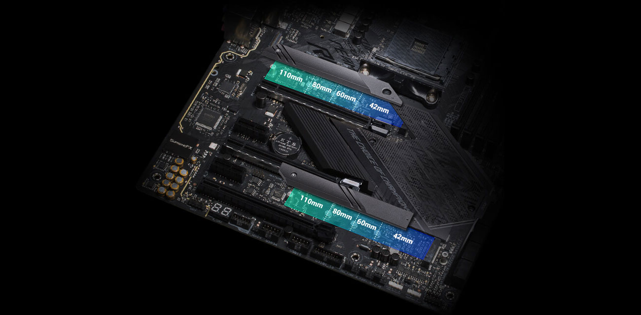 ASUS ROG STRIX X570-E GAMING - Złącza PCI-E 4.0 M.2