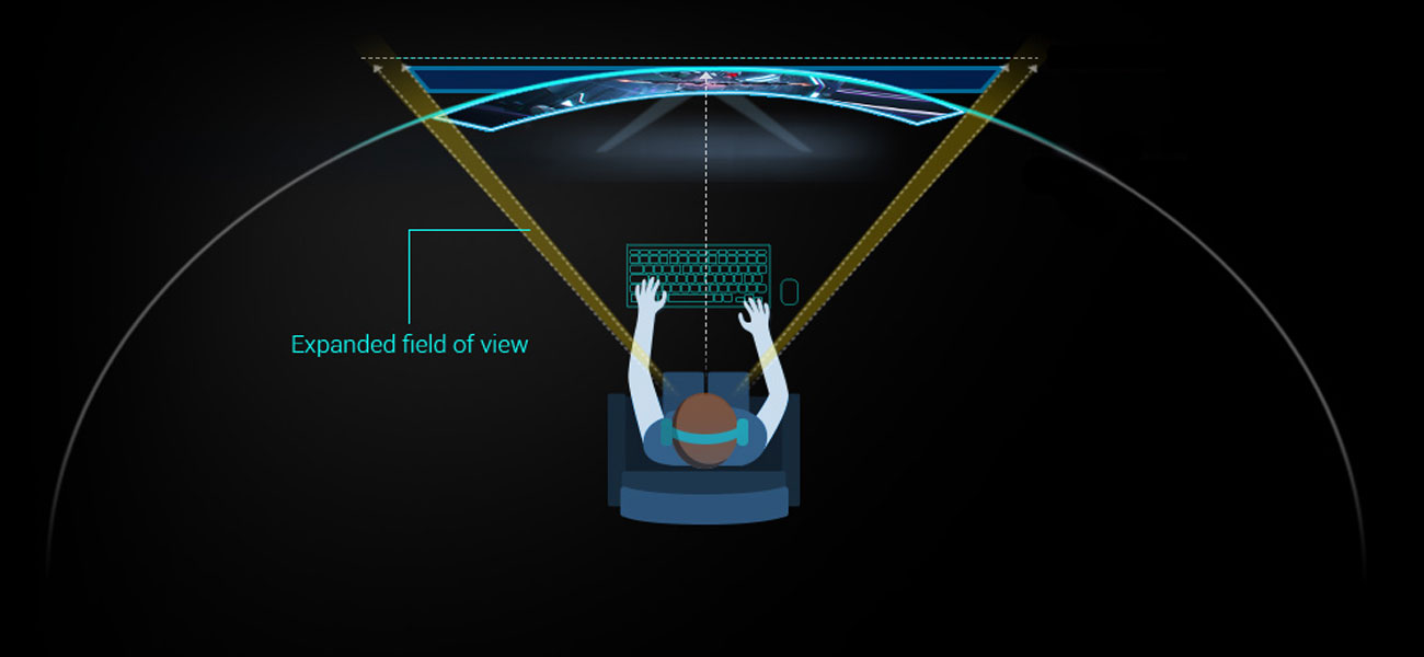 Asus ROG Strix XG35VQ 35-calowy ekran o zakrzywieniu 1800R