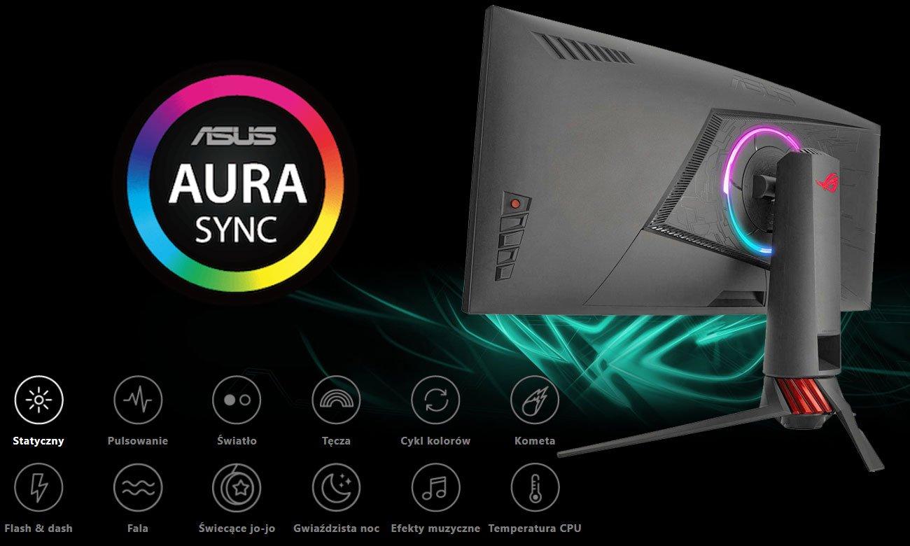 Asus ROG Strix XG35VQ Oświetlenie Aura Sync