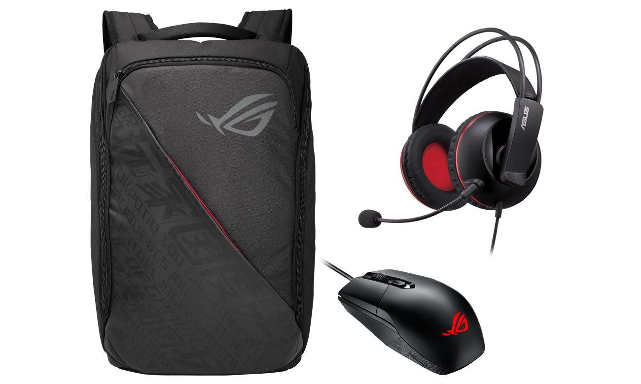 ASUS ROG Strix II GL504GS + plecak ROG, słuchawki Cerberus V2, mysz ROG Strix Impact