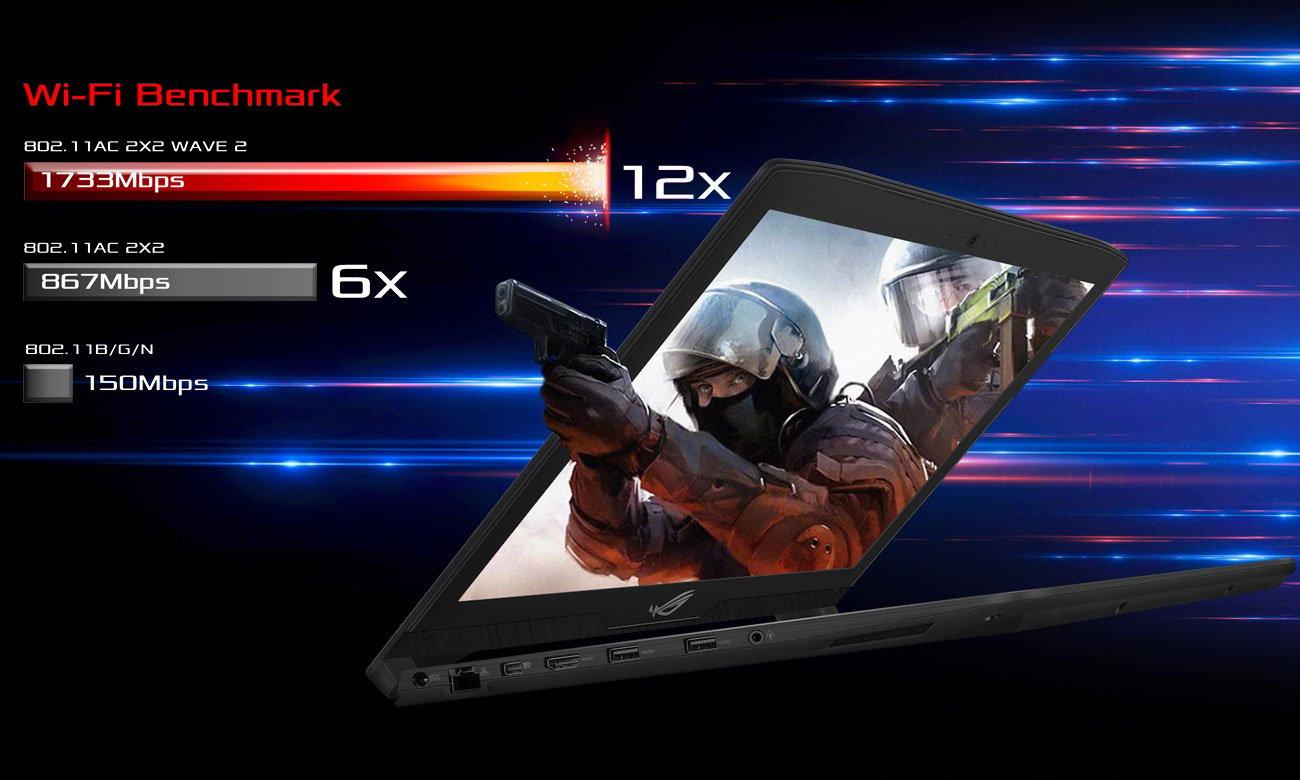 ASUS ROG Strix SCAR GL703GM Maksymalna przepustowość łącza, Energooszczędny Bluetooth 4.1