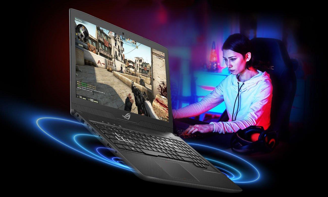 ASUS ROG Strix SCAR GL703GM Lepsze wrażenia dźwiękowe