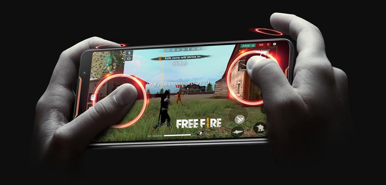 ASUS ROG Phone mapowanie klawiszy czujniki ultradzwiękowe