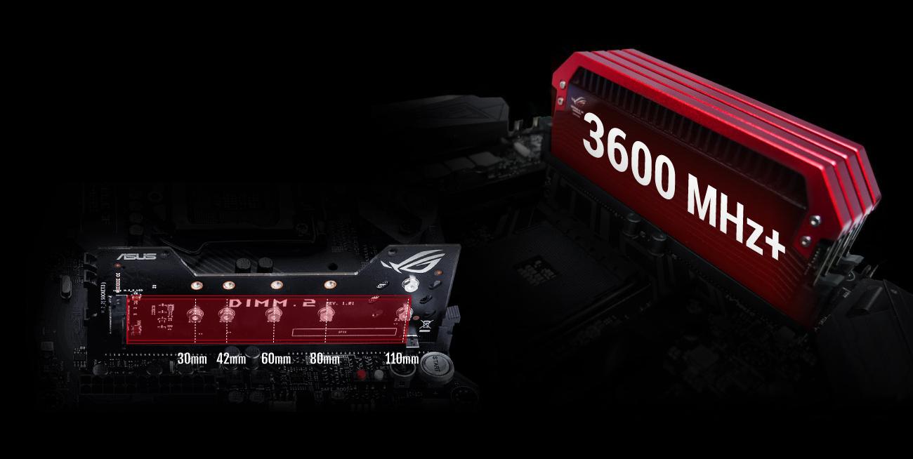 MSI X399 ROG ZENITH EXTREME RAM 3600 MHz, moduły M.2
