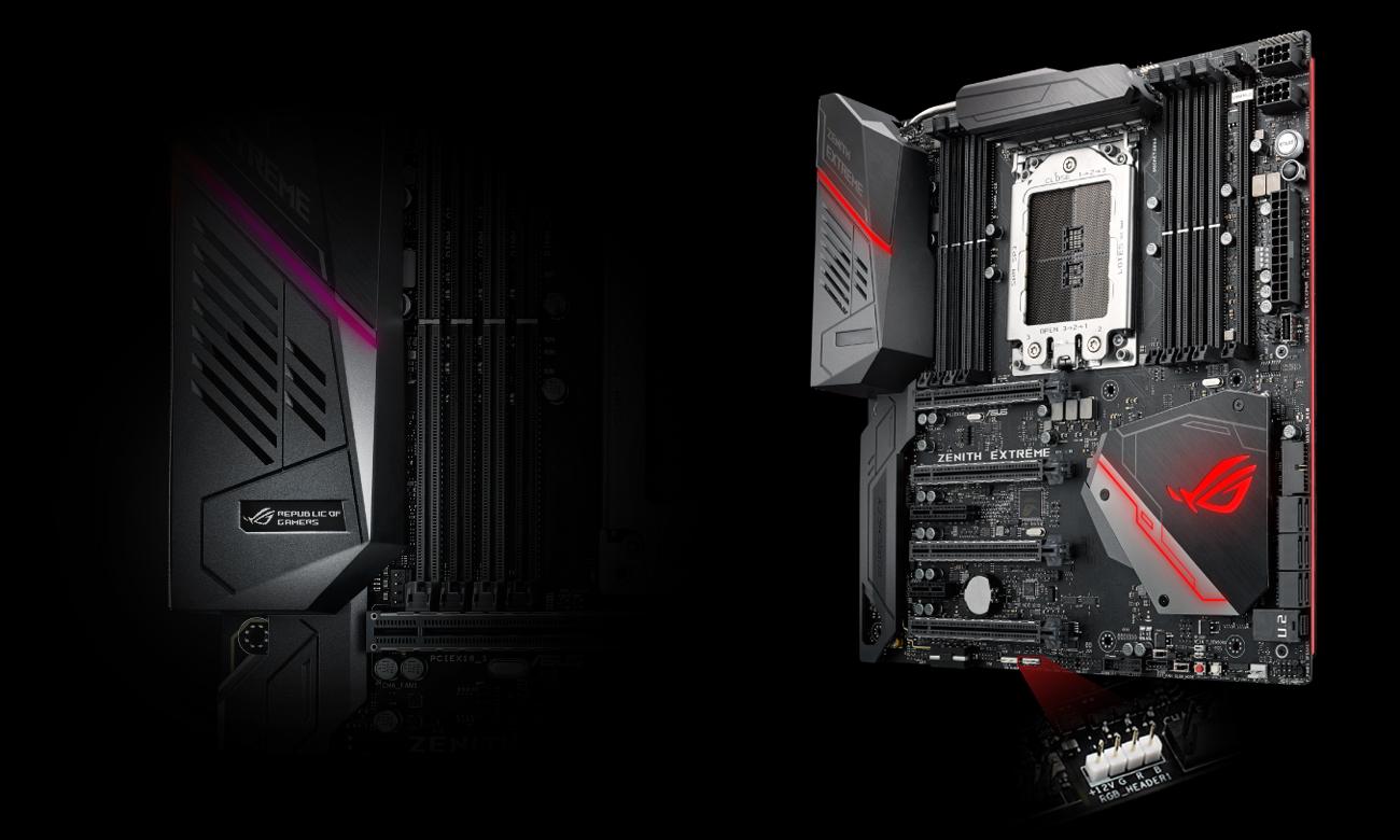 MSI X399 ROG ZENITH EXTREME Podśwetlenie RGB Aura Sync, LiveDash OLED