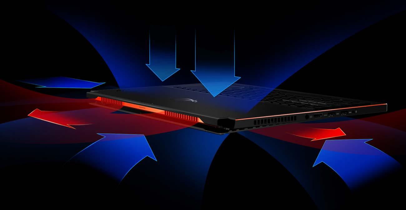 ASUS ROG Zephyrus GX501VI wydajne chłodzenie z systemem Active Aerodynamic System