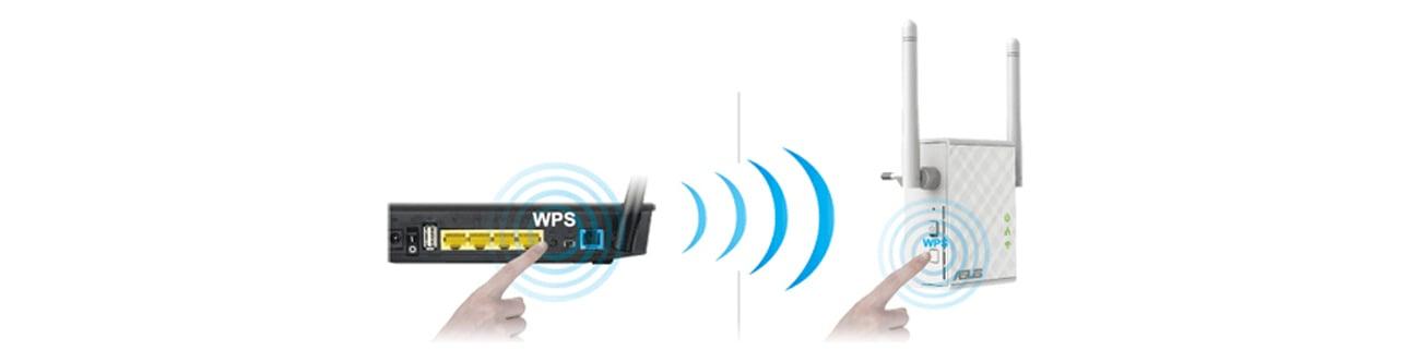 Access Point ASUS RP-N12 łączność WPS