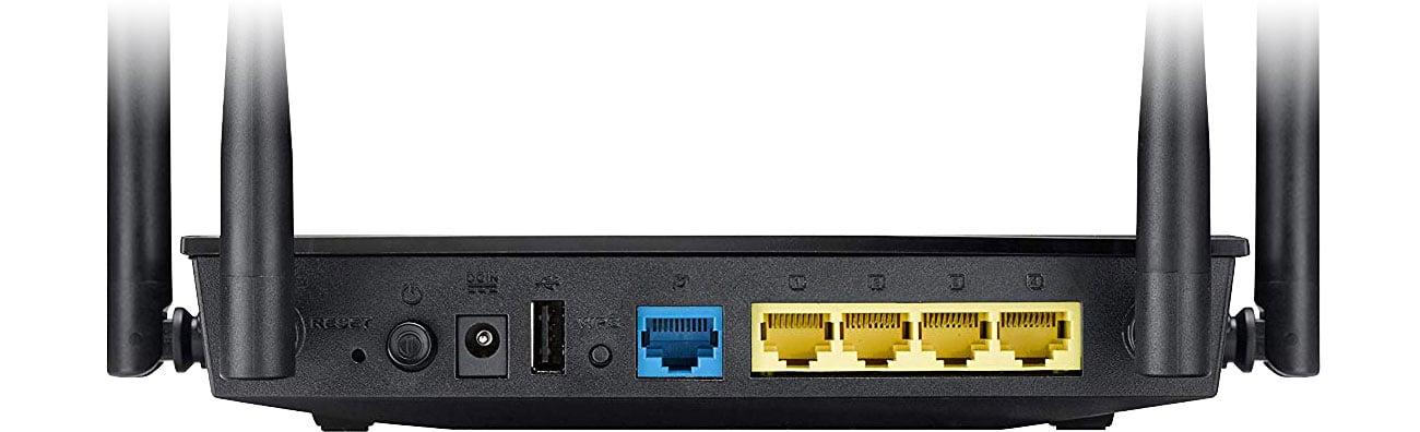 ASUS RT-AC57U Złącza USB, WAN, LAN