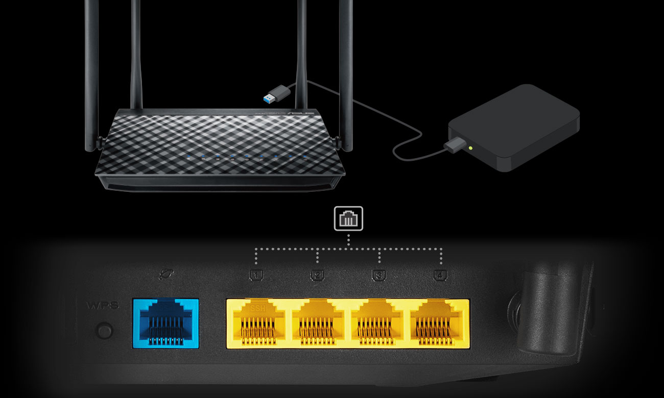 Router ASUS RT-AC58U V3 1300Mb/s a/b/g/n/ac USB