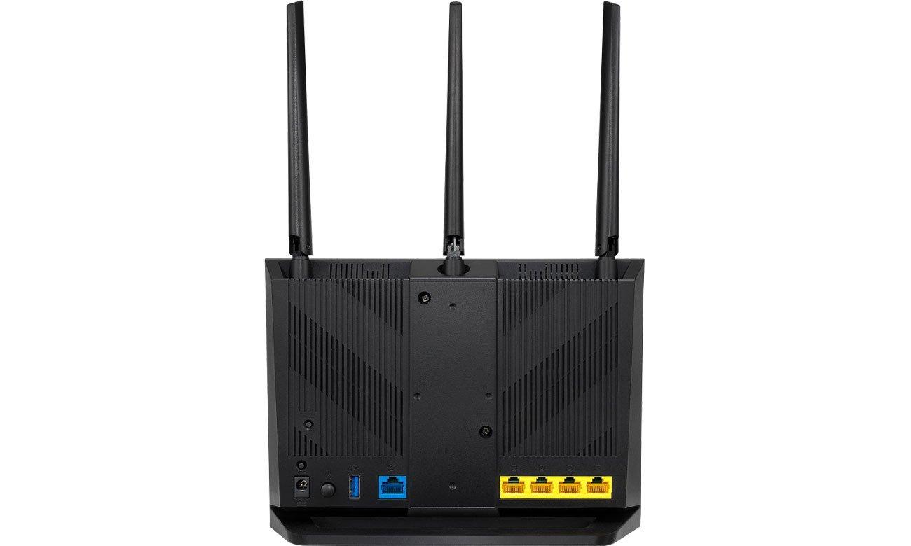 ASUS RT-AC65P Złącza USB, LAN