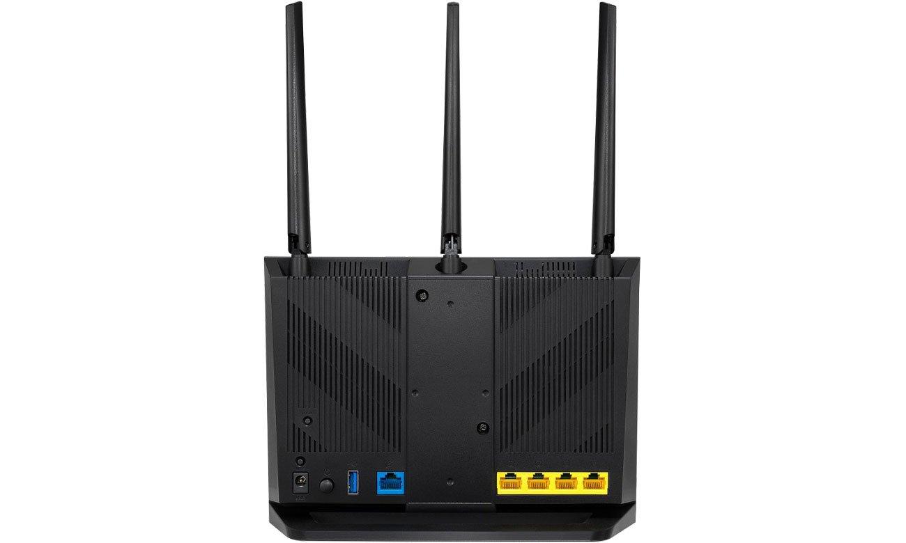 ASUS RT-AC85P Złącza USB, LAN