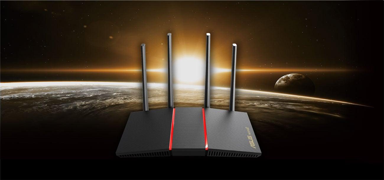 Router ASUS RT-AX55 (1800Mb/s a/b/g/n/ac/ax, 4xLAN) RT-AX55 OFDMA MU-MIMO DualBand AX