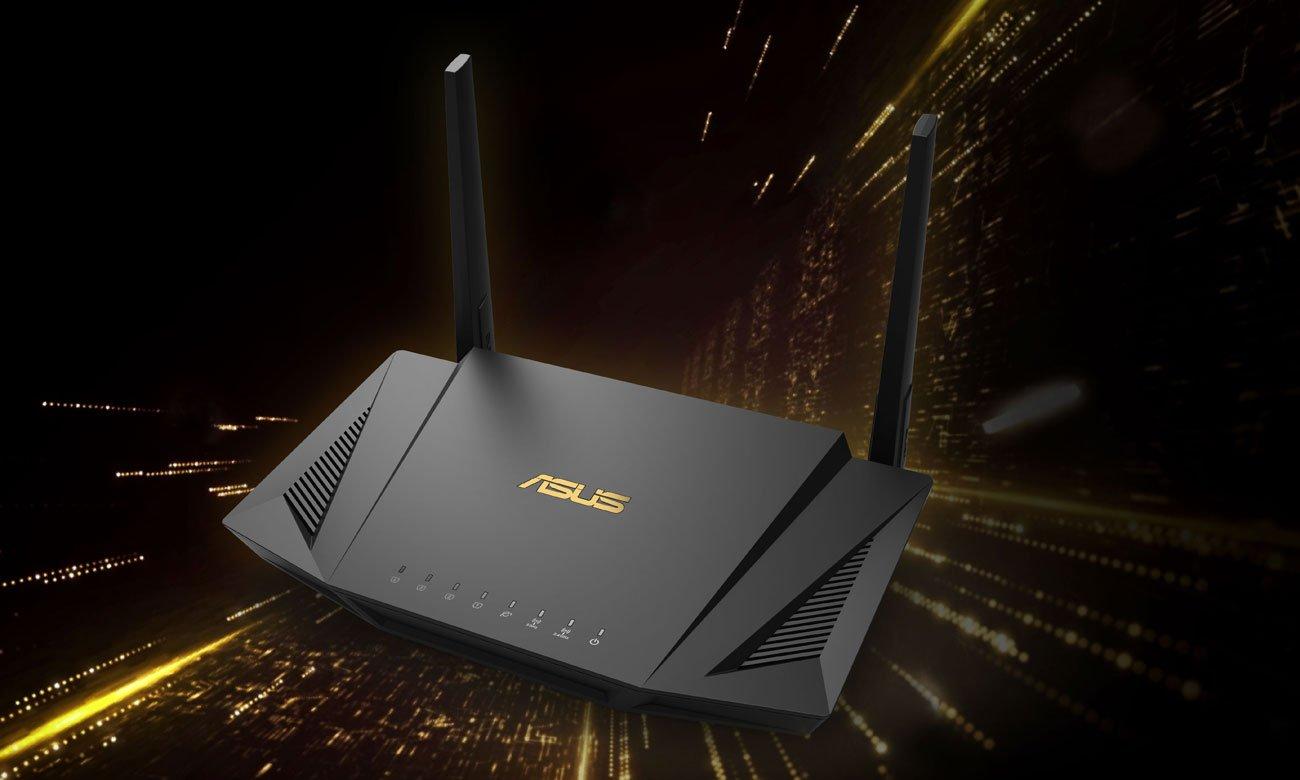 Router ASUS RT-AX56U (1800Mb/s a/b/g/n/ac/ax, 2xUSB, 4xLAN)