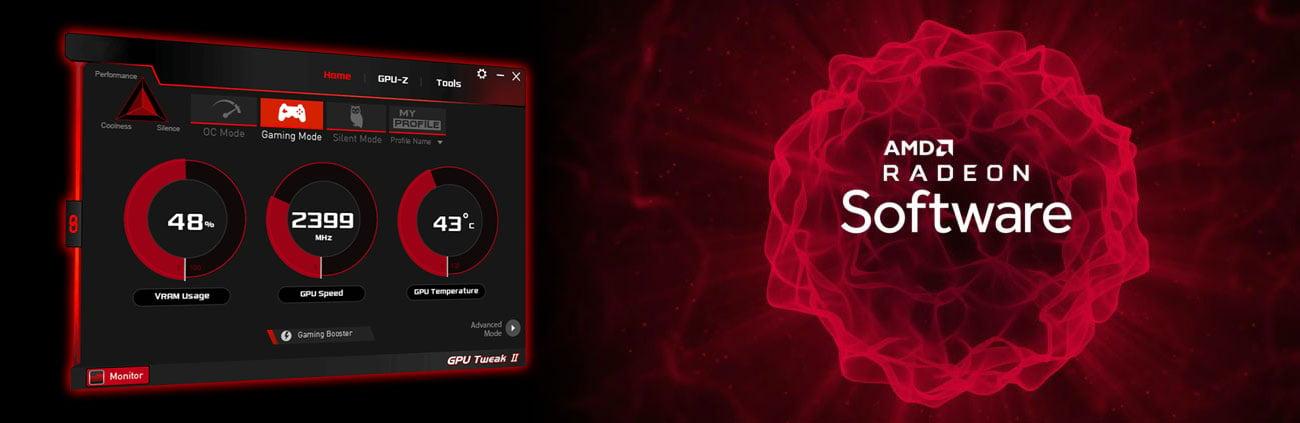 ASUS GPU Tweak II, AMD Radeon Software Adrenalin 2019 Edition